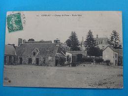 """22 ) Corlay - N° 20 - Champ De Foire  """" école Libre """"  - Année 1913 - EDIT : ELD - Autres Communes"""
