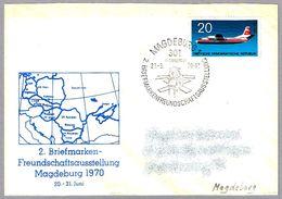 Satelite INTERKOSMOS 1 - Satellite. Magdeburg 1970 - FDC & Conmemorativos