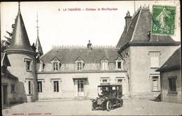 Cp La Tagniere Saone Et Loire, Chateau De Montfeurton, Schlosshof, Automobil - Francia