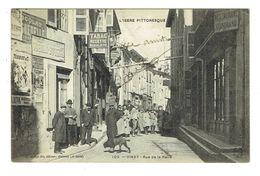 38 ISERE VINAY Rue De La Halle Très Belle Carte Peu Courante - Vinay