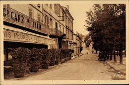 Cp Ribérac Dordogne, Place De La Gendarmerie, Grand Café De Paris - France