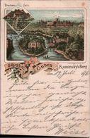 ! 1896 Frühe Litho Ansichtskarte Gruss Aus Guben - Guben