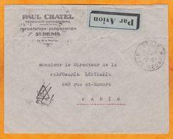1938 - Enveloppe Par Avion De Pointe Des Galets, Réunion Vers Paris Via St Denis Et Tananarive - Isola Di Rèunion (1852-1975)