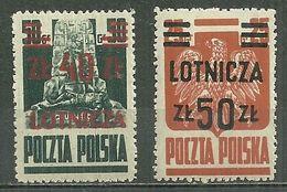 POLAND MNH ** PA 16 Et 17 Avion Aviation Plane - Airmail