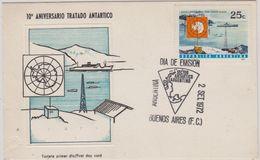 Argentina 1972 10th Ann. Antarctic Treaty 1v Maximum Card (48256) - Tratado Antártico