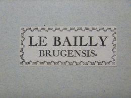 Ex-libris Typographique XVIIIème - BELGIQUE - LE BAILLY - Bruges - Ex-libris