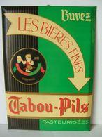 Glaçoide : Tabou-Pils Brasserie Du Nain D' Alsace St Quentin - Advertising (Porcelain) Signs