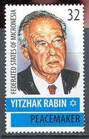 M2323 ✅ Presidents Politicians Rabin 1995 Micronesia 1v Set MNH ** - Micronésie