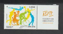 TIMBRE - 2018 - N° 5208 -120éme Anniversaire De L' ASPTT  -  Neuf Sans Charnière - Unused Stamps