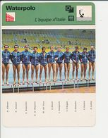 Waterpolo Italia JO 1976 Montréal Equipe D'Italie Water Polo Sport 1FICH-DIV5 - Sports