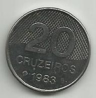 Brazil 20 Cruzeiros 1983. - Brazil