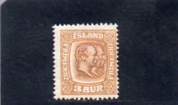 ISLANDE 1907-8 * - Nuevos