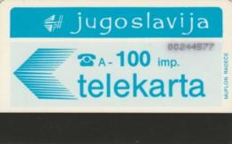 PHONE CARD JUGOSLAVIA (E61.7.7 - Jugoslawien