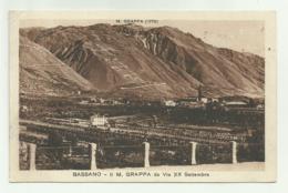 BASSANO - IL M.GRAPPA DA VIA XX SETTEMBRE 1922 -  VIAGGIATA  FP - Vicenza