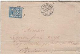 Yvert 79 Sage Sur Lettre Oblitération Cachet Ambulant La Rochelle à Paris D 22/2/1878 Pour Bordeaux - Marcophilie (Lettres)