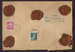 PERFIN LEOPOLD III Verzegelde Brief Verzonden Van BRUSSEL Naar Amsterdam (Nederland) Sterstempel BRUSSEL 33   ! LOT 324 - Perfins