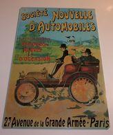 """Plaque En Métal """"Société Nouvelle D'automobiles"""" - Advertising (Porcelain) Signs"""