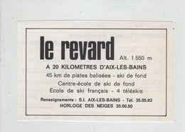 Le Revard Centre école De Ski De Fond Horloge Des Neiges  1974 - Publicités