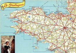 Région Bretagne - Les Départements Bretons / Région Bretagne - Cartographie D Après Carte Michelin 989  édition Artaud ♥ - Bretagne