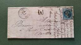Deux Sèvres.Lettre De Chef Boutonne Pour Saint Cosme Sarthe - Marcophilie (Lettres)