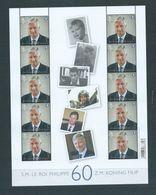 Belgique Belgium 2020 Bloc Feuillet 60 Ans Philippe 9,8 € - Full Sheets