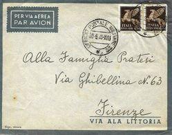 Cachet Militaire Nº 22 Sur Lettre Vers Firenze 1940 - 1900-44 Victor Emmanuel III