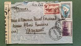 Argentine.Enveloppe Pour Mazamet France Avec Contrôle 1942 - Argentina