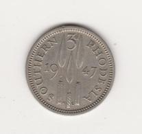 RHODESIE DU SUD 3 PENCE 1947 GEORGE VI - Rhodesien