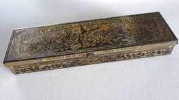 Boite Lithographiée Ancienne Allumettes BRYANT & MAY ROYAL WAX VESTAS - Matchbox - Boites D'allumettes