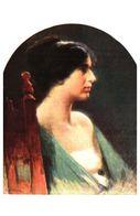 Lapina 1554 - MA Zwiller, Profil De Jeune Fille (5 Lignes) - Pittura & Quadri