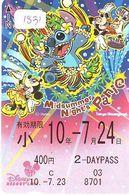 Carte Prépayée Japon * DISNEY * 1 DAY PASS * MIDSUMMER NIGHT'S   (1831)  ANIME Japan Prepaid Card - Disney