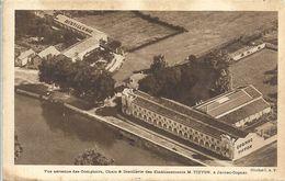 CPA Jarnac Vue Aérienne Chais Et Distillerie Des Etablissements Tiffon - Jarnac