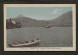 """74 Lac D'Annecy / Duingt / Vue Sur Talloires Et Le Bateau """" La France """" - Talloires"""