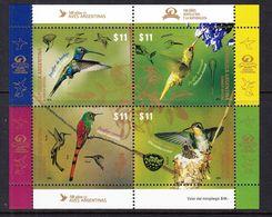 2016 Argentina Hummingbirds Miniature Sheet Of 4 MNH - Argentinië