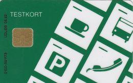 Denmark, DT016, Danmont  Testkort Grøn, 2 Scans - Denmark