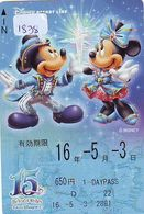 Carte Prépayée Japon * DISNEY (1838) MICKEY & MINNIE * THE YEAR OF WISSHES  * JAPAN PREPAID CARD - Disney