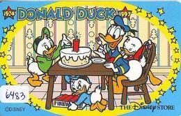 Télécarte Japon * 110-189913 * DISNEY STORE * DONALD DUCK * RIRI FIFI LOULOU (6483) PHONECARD JAPAN - Disney