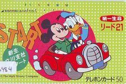 Télécarte Japon * 110-24783 * DONALD DUCK & MICKEY MOUSE (6484) PHONECARD JAPAN - Disney