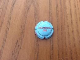 """Capsule """"CHAMPOMY 2000"""" (rouge Et Noir Sur Fond Bleu Clair) - Soda"""