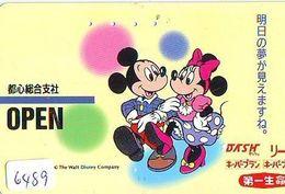 Télécarte Japon * 110-011 * DISNEY Mickey & Minnie (6489) * Japan Phonecard - Disney