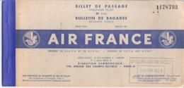 BILLET DE PASSAGE -AIR FRANCE -CIE DE NAVIGATION PAQUET 1953-  AIR ATLAS  N°1178793 - Titres De Transport