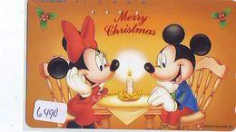Télécarte Japon * 110-193364 * DISNEY  (6490) MERRY CHRISTMAS * WEIHNACHTEN * TELEFONKARTE * PHONECARD JAPAN * - Disney