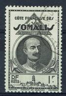 French Somali Coast, 1f, Léonce Lagarde, French Colonial Governor, 1939, VFU - French Somali Coast (1894-1967)