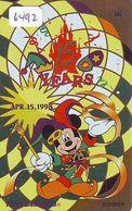 Télécarte Japon * DOREE JAPON * 110-199100 * DISNEY (6492) DISNEYLAND * Série 15 YEARS * JAPAN GOLD Phonecard - Disney