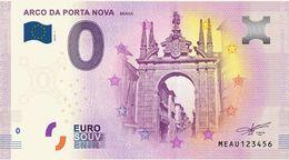 PORTUGAL EUROSOUVENIR NOTE BRAGA ARCO DA PORTA NOVA - EURO