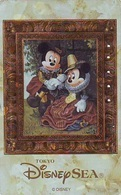 Télécarte Dorée Japon * 110-213174 * DISNEY SEA * MICKEY & MINNIE Dans Un Cadre (6494) Japan Gold Phonecard Telefonk - Disney