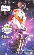 RARE * Télécarte Japon * DISNEY STORE  110-211609 * Zodiaque (6496) VIRGO VIERGE Minnie Japan HOROSCOPE PHONECARD - Disney