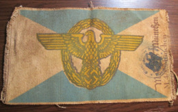 WW2 German Order Police Ordnungpolizei ORPO Flag - Drapeaux