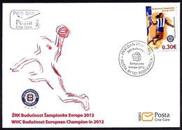 2012 FDC, Handball, WHC Budućnost European Champion, Montenegro, MNH - Montenegro