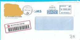 EMA BDYM49524 Flamme GMS Sur Recommandé De Watermaal-Bosvoorde Cachet LibrExpress Meiser - 2000-...